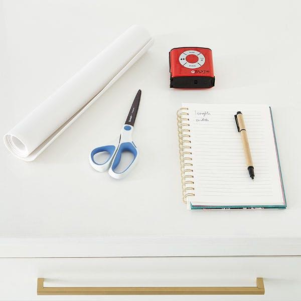 Step 2: Measure & Line Shelves