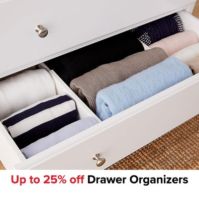 Up to 25% off Drawer Organizers