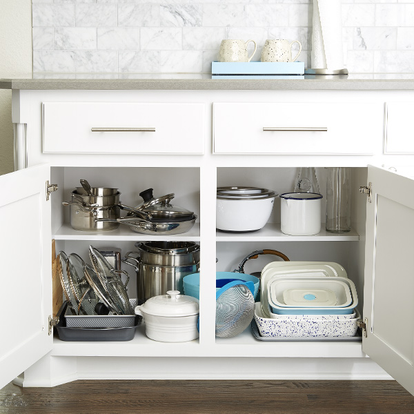 How To Organize Your Kitchen Cabinets Step By Step Project The Container Store