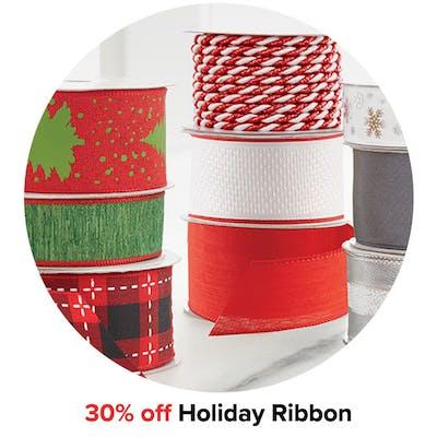 30% off Holiday Ribbon