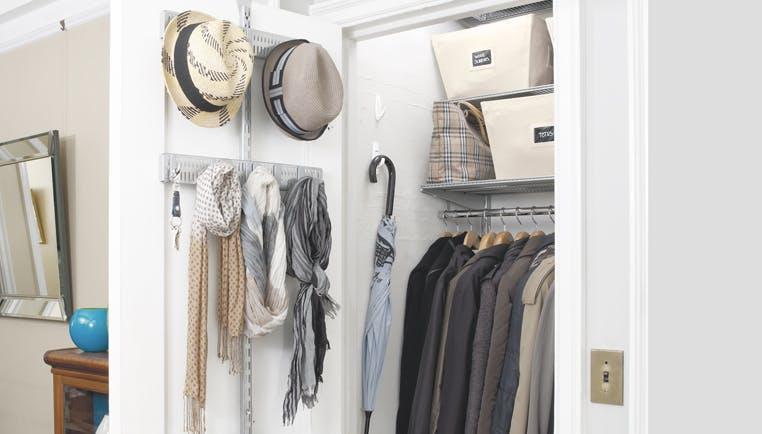 Hall Closet Organization Ideas How To Organize A Hall Closet The Container Store,Ant Anstead Christina Tarek El Moussa