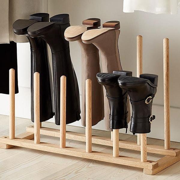 6-Pair Natural Boot Rack