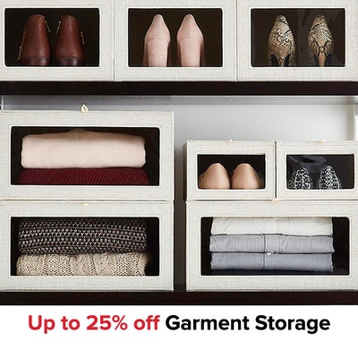 Up to 25% off Garment Storage
