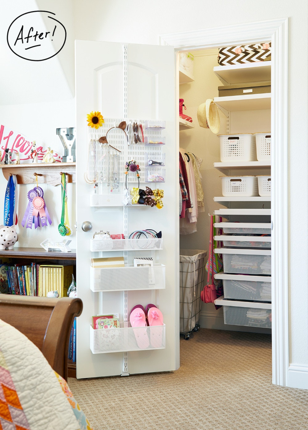 A Double Kids Closet Transformation With Elfa Container