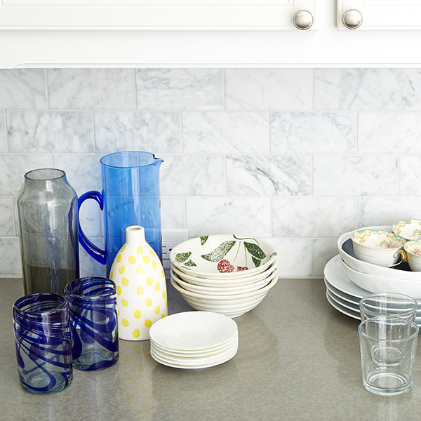 Step 1: Clean Out Your Upper Cabinets & Decide What To Keep Where