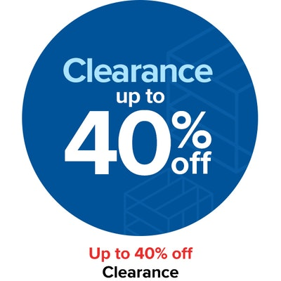 Clearance up to 40% off