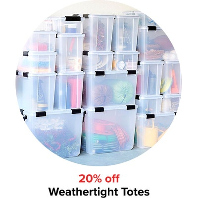 20% off Weathertight Totes