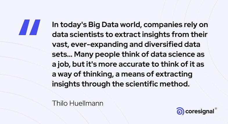 Data Analytics Quote by Thilo Huellmann