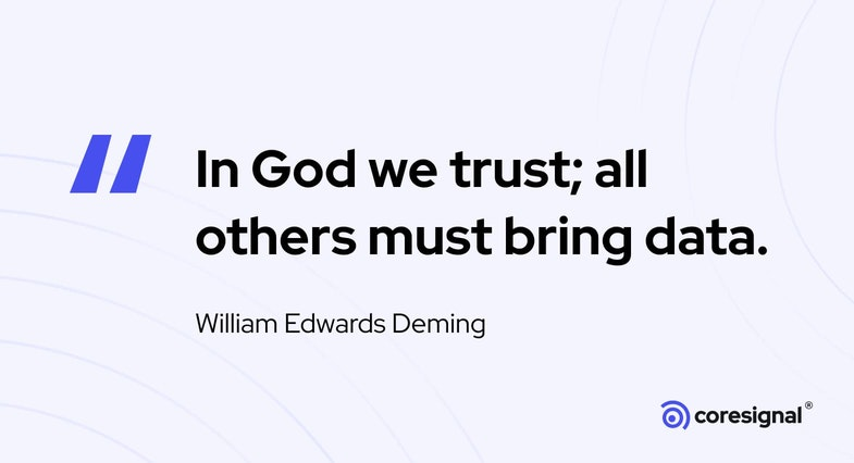Data Quote by William Edwards Deming