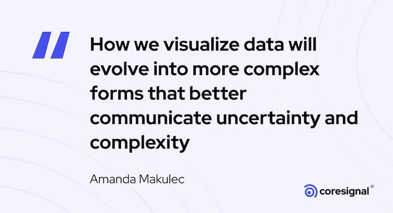 Data visualiaztion quote by Amanda Makulec