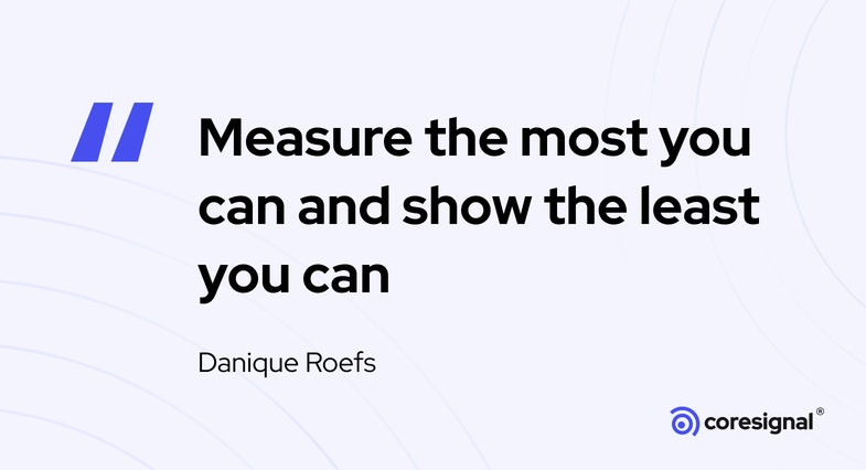 Data visualization quote by Danique Roefs