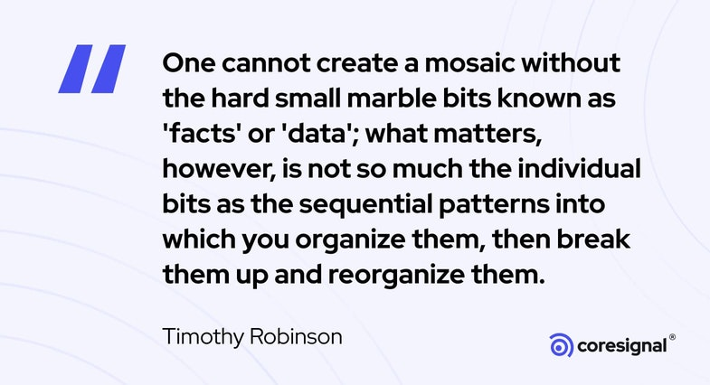 Data Science Quote by Timothy Robinson