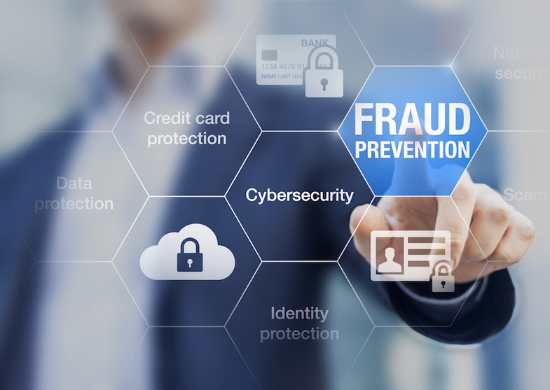 Fraud prevention and cybersecurity button