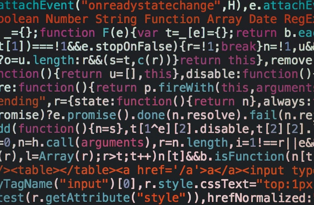 Computer language data sample