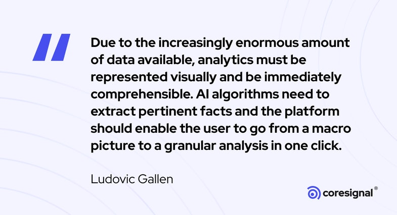 Data visualization quote by Ludovic Gallen