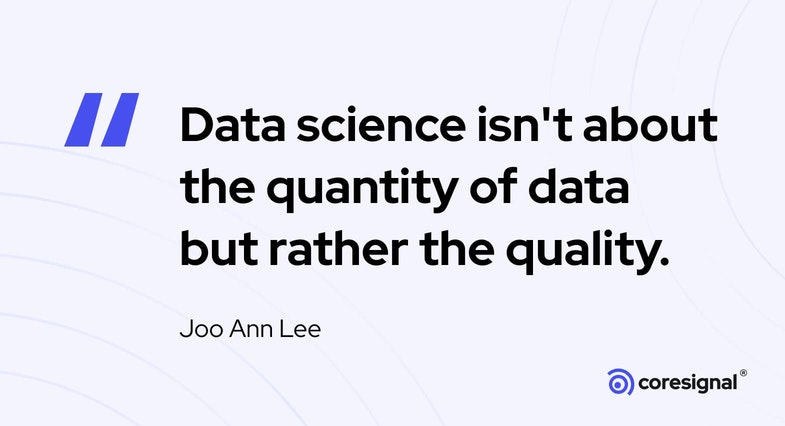 Analytics Quote by Joo Ann Lee