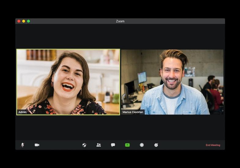Virtual work, zoom meeting
