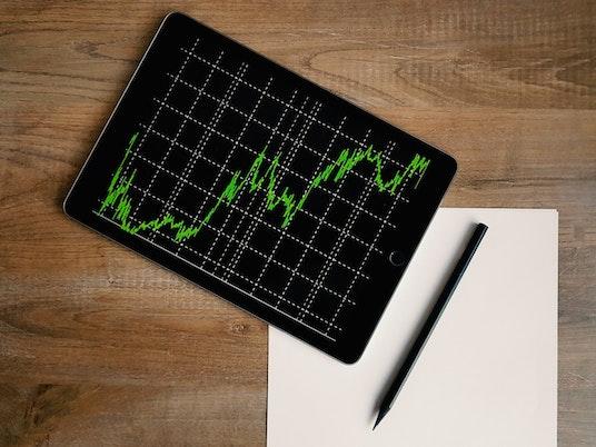 Market trend graph on ipad
