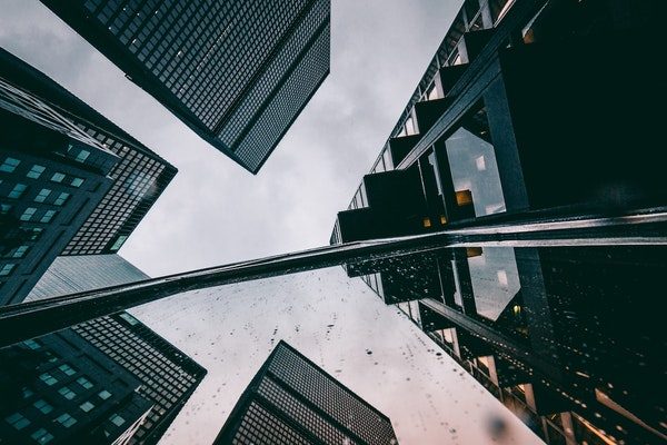 Skyscraper business buildings, trend analysis
