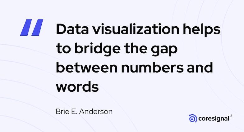 Data visualization quote by Brie E. Anderson