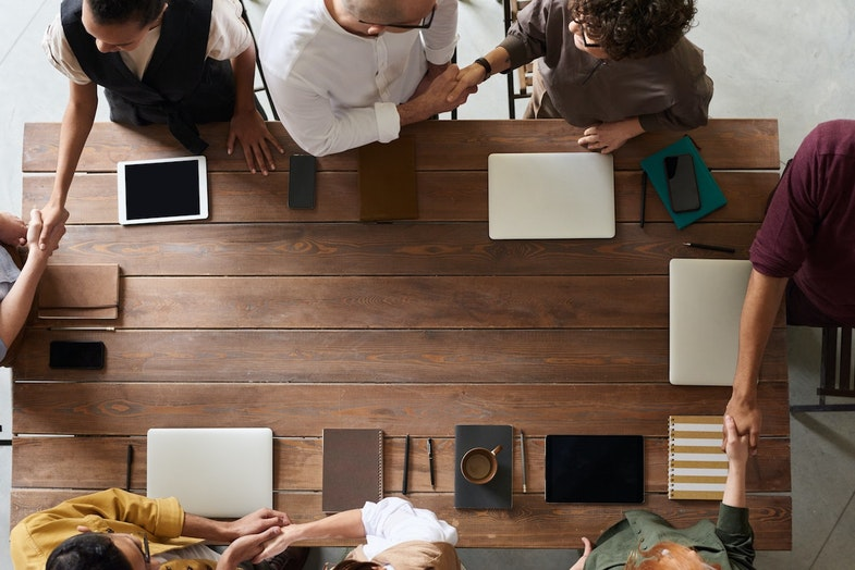 Successful company meeting