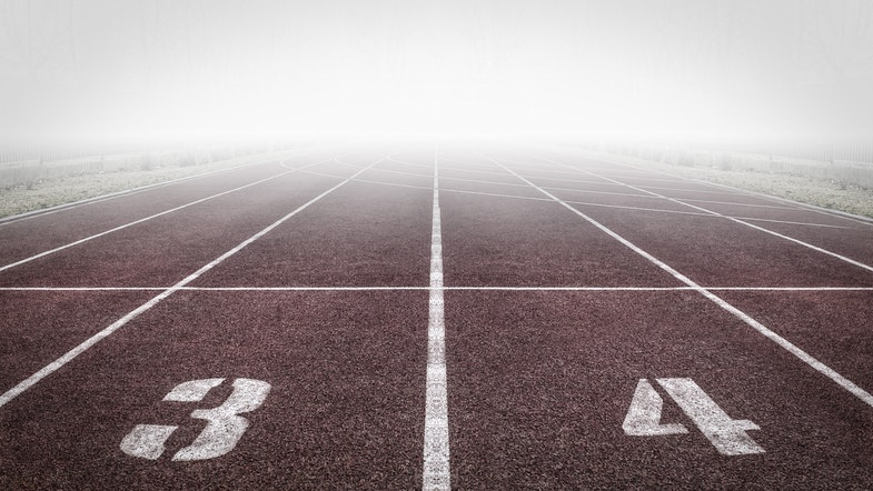 Track before a race competition