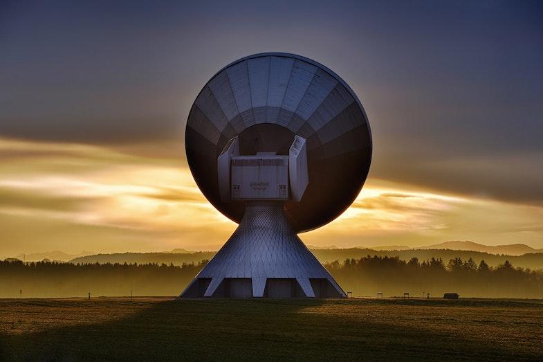 Satellite gathering data