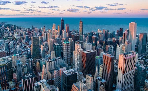 Venture capital trends city skyline