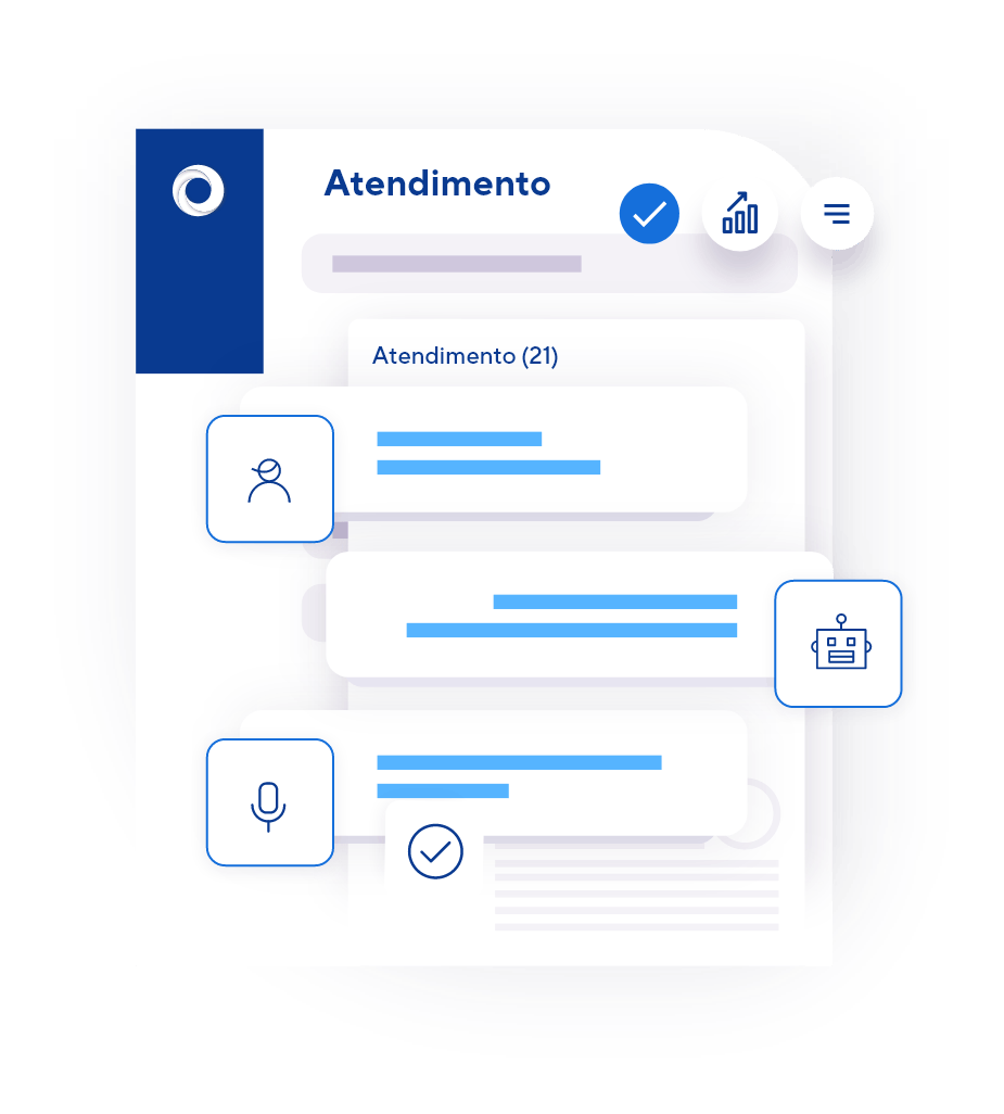 Atendimento híbrido: chatbot + atendentes