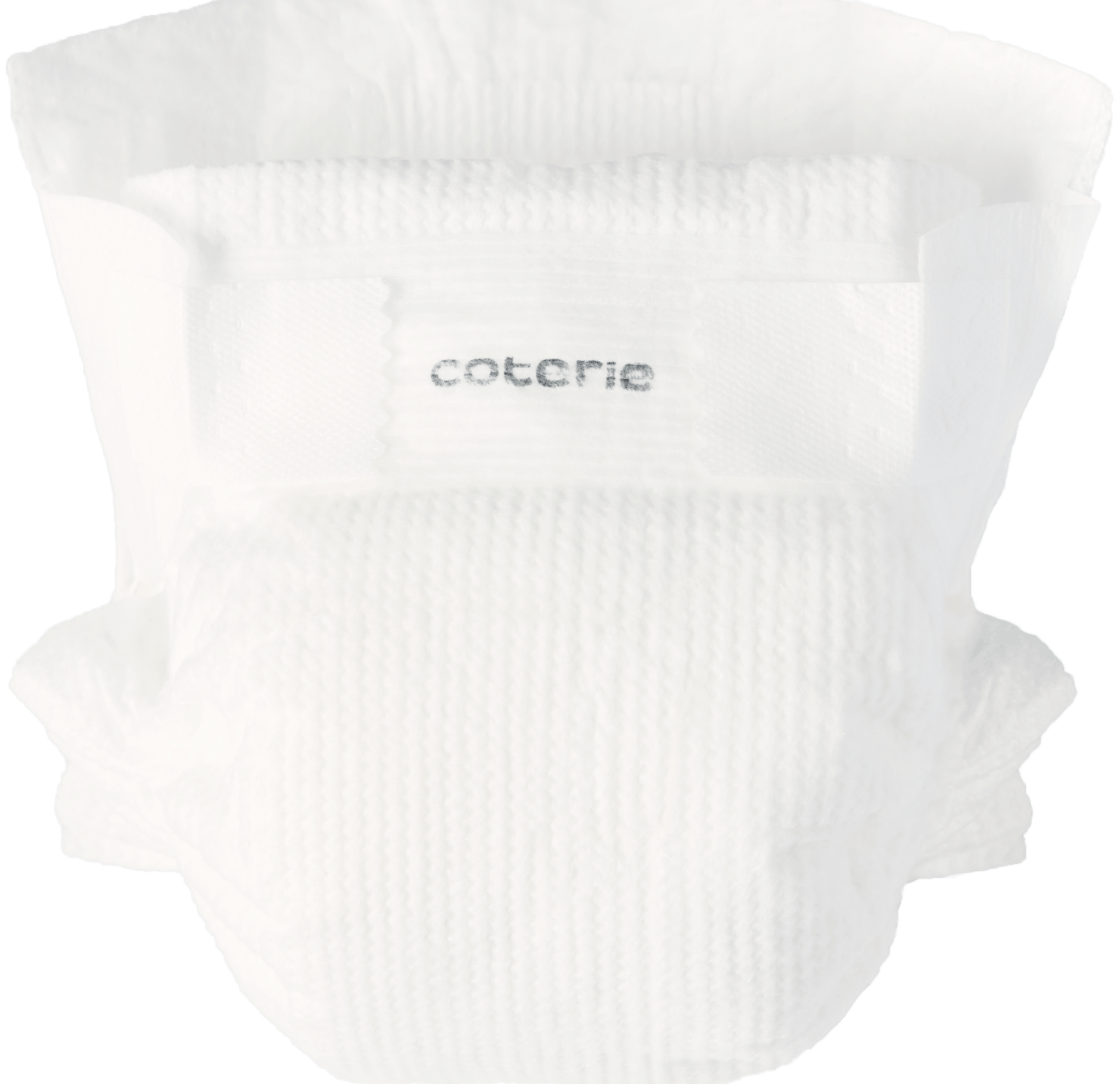 A Coterie diaper, a softer, safer and more absorbent diaper