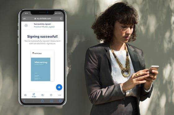 Das Projekt E-Rent von Wincasa digitalisiert den Vermietungsprozess mit der E-Signatur von Skribble