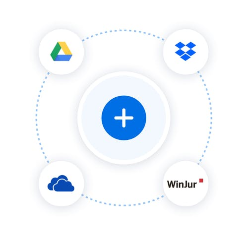 A circle shows how I can sign from my cloud.