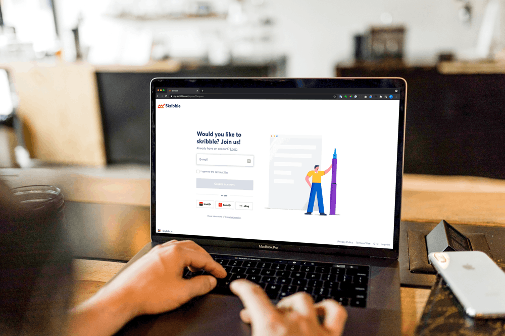 With the QES by Skribble, the trust service provider is already included in the price and fully integrated into the e-signature service right from the start (Source: Unsplash).