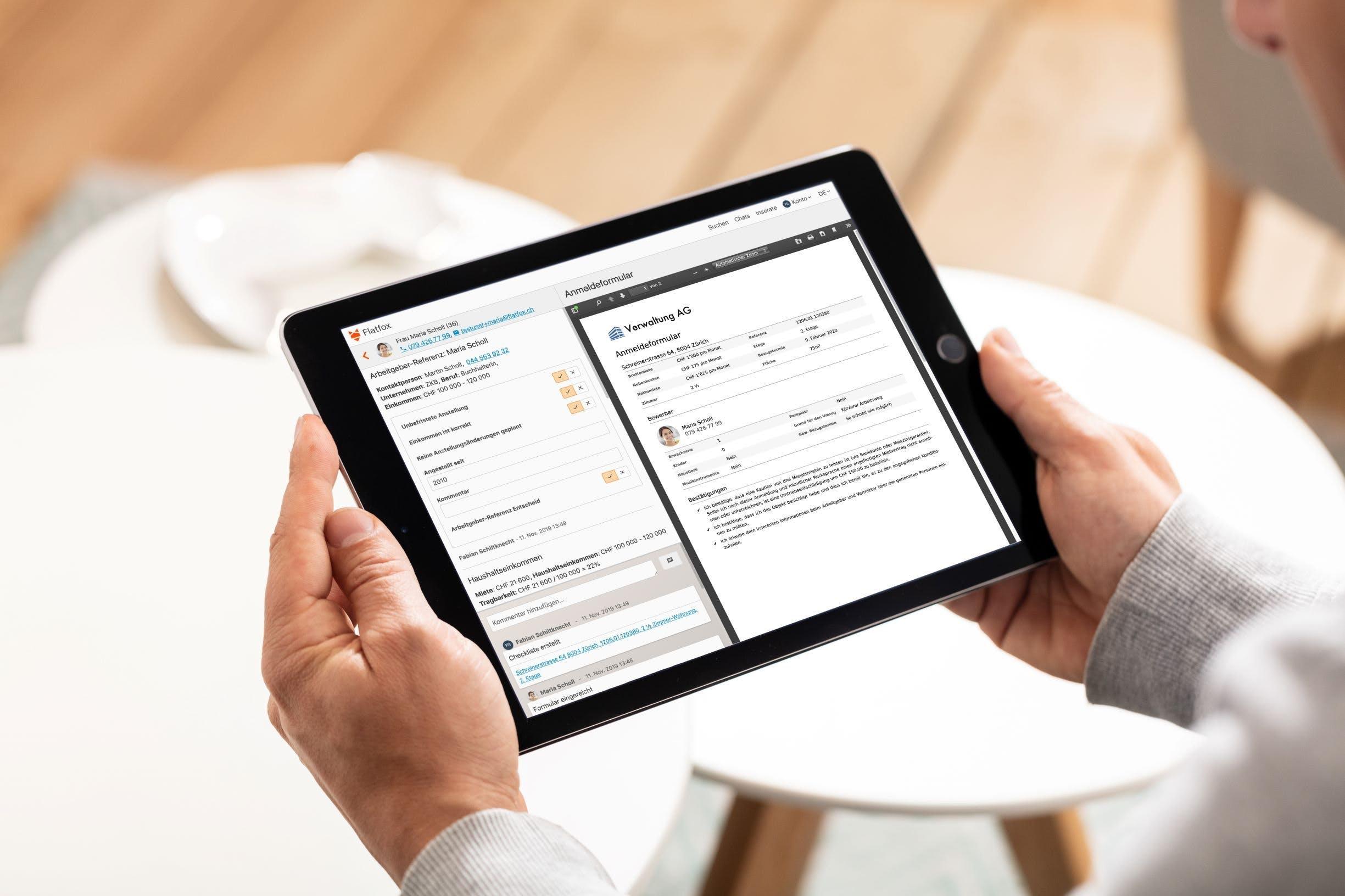 Digitale Prozesse führen zu mehr Effizienz bei der Vermietung (Quelle: Flatfox)
