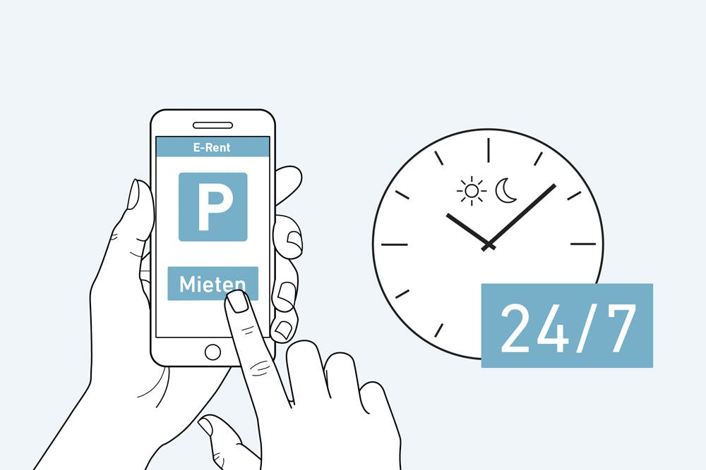 Electronic process for the lease of outdoor parking spaces (Source: Wincasa)