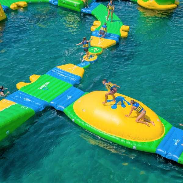 inflatable playground at sentosa waters