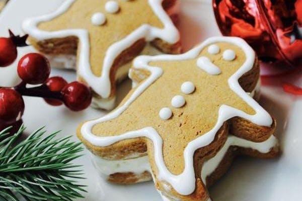 gingerbread man cookie ice cream sandwich