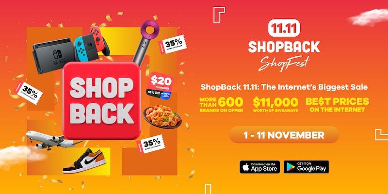 ShopBack 11.11 internet's biggest sale