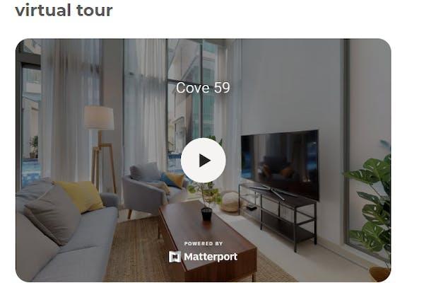 screenshot of virtual tour on Cove's website