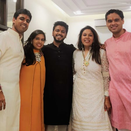 Akshit together with his family during Diwali last year