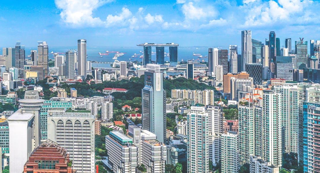 Singapore skyline, marina bay sands