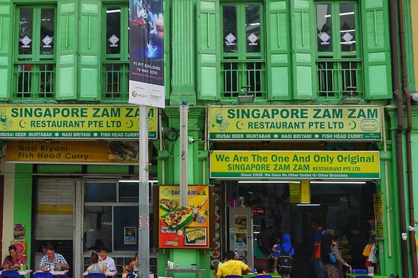 ZamZam Restaurant, a newly renovated shophouse, located right opposite Sultan Mosque