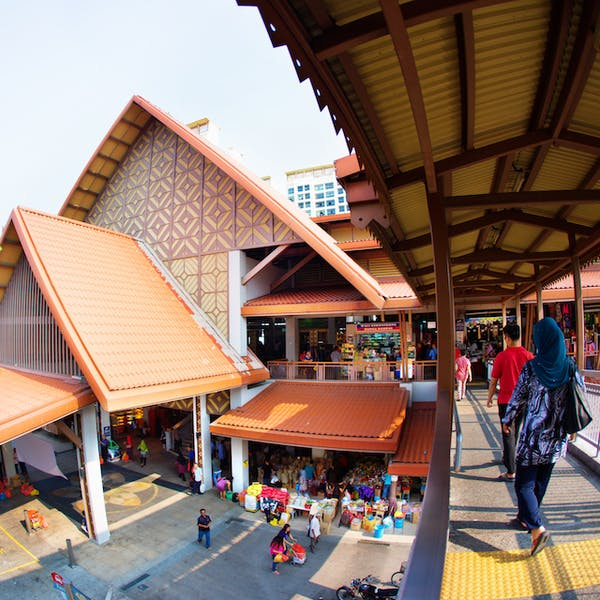 Geylang Serai Market which has the typical malay kampong architecture