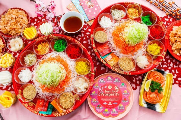 typical take-away yu sheng