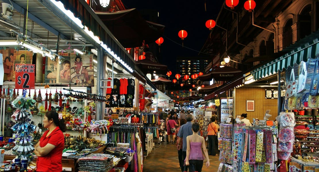 typical night market in Singapore