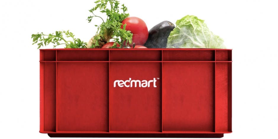 brinjal, tomato, lettuce, cabbage, coriander and vegetables in a redmart box