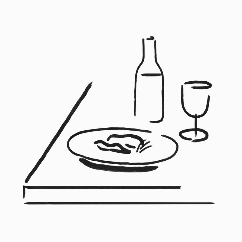 Day Restaurant Dining, Illustration by Charlotte Trounce for Covers