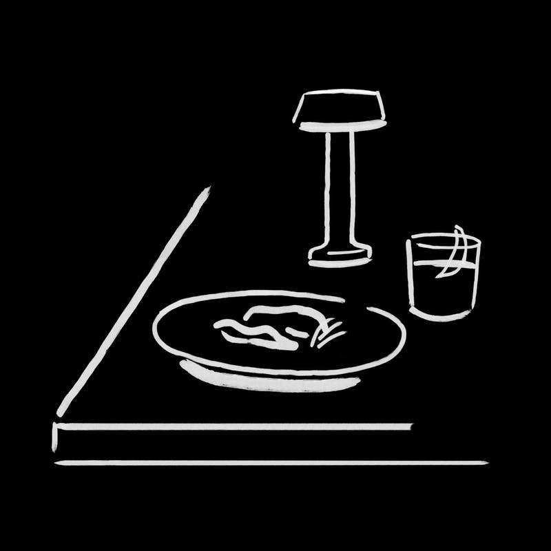 Night Restaurant Dining, Illustration by Charlotte Trounce for Covers