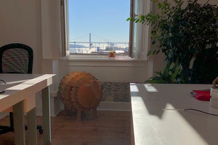 Our beautiful view includes some pastoral touches at Cowork Central Cais do Sodré