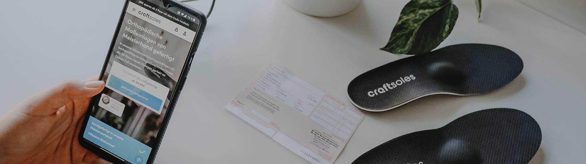 Einlagen online auf Rezept Krankenkasse